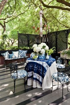 Breezy Porches and Patios. Treetop Terrace with an Open Deck