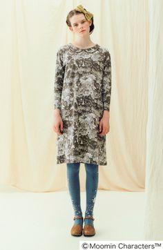 Fashion collection[ファッションコレクション] ムーミン谷が広がる 衿付きカットソーワンピースの会(3回限定コレクション) フェリシモ