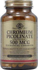 Пиколинат хрома для похудения Solgar, Chromium Picolinate