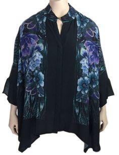 Dressori Black Silk Print Blouse - LOVE LOVE LOVE The Print!