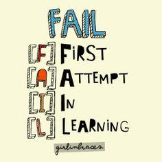 FAIL. First. Attempt. In. Learning. Falhanço! [F] Primeira [A] Tentativa [I] na [L] Aprendizagem