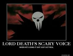 Soul Eater ~~ Lord Death's scary voice is awesome, but his scary mask is even MORE amazing! Lord Death Soul Eater, Soul Eater Evans, Anime Soul, Soul Eater Manga, Shinigami, I Love Anime, All Anime, Tokyo Ghoul, Soul And Maka