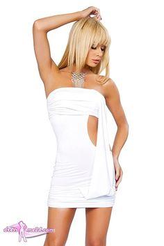 Besuche uns gern auch auf dressme24.com ;-) Minikleid Helena - Trägerloses Stretch Microfaser Minikleid mit seitlichem Ausschnitt. Ein super Eyecatcher für die Bühne und die Party. #Gogooutfits, #Dancewear, #Minikleider