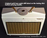 *American*Radio*Design* - Greg Mercurio - Deco-Mid Century, Retro Styled Vintage Tube Radios : WESTINGHOUSE Portable Tube Radio H-558P4 -1957 Mid...