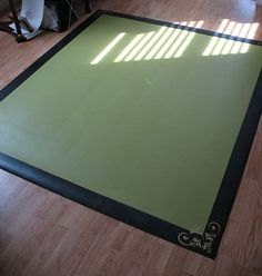 How To Make A Room Rug Out Of Scrap Linoleum