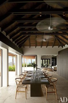 Contemporary Dining Room and Wolfgang Ludes and Johannes Zingerle in St. Barts