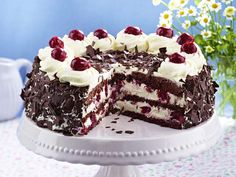 The best Gluten-free Black Forest gateau recipe you will ever find. Welcome to RecipesPlus, your premier destination for delicious and dreamy food inspiration. German Black Forest Cake, Sweet Recipes, Cake Recipes, Gateau Cake, Cake Decorating For Beginners, Chocolate Shavings, Sweet Cherries, Gluten Free Cakes, Food Cakes