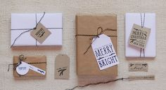 If you don't have gift tags, just print some out.   23 Tricks To Take The Stress Out Of Wrapping Gifts