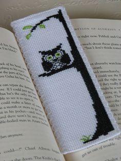 Patrón Bookmark Punto de Cruz: Owl Be Watching You (Immediate Descargable PDF)