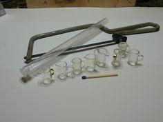 Pöytäkannut ja purkit löytyivät muoviputkesta      Kaardemummaputki tai muu kirkasmuovinen putkimikä sahataan paloiksisekä muovikalvost...