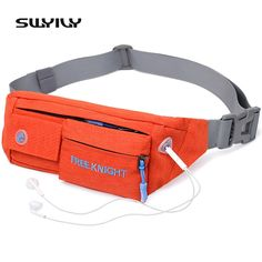 Running Bags Hard-Working Waterproof Outdoor Functional Running Waist Bag Sport Packs For Music With Headset Hole-fits Smartphones Running