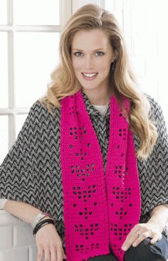Shimmery Hearts Scarf Crochet Pattern « The Yarn Box The Yarn Box