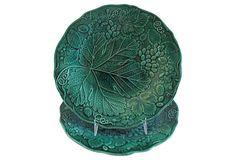 Antique Majolica Plates,       Pair on OneKingsLane.com