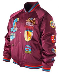The Lovely Underachieving Loners Satin Bomber Jacket