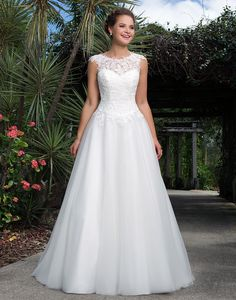 Sweetheart sweetheart style 6127 This tulle ball gown with beaded lace illusion Sabrina neckline, beaded lace bodice and basque waistline is girl next door inspired. The lace up back and sweep train complete the sweet and flirty look.