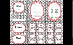 A Singular and Plural Noun sorting activity