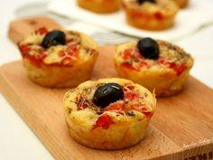 Recette Apéritif : Muffins salés comme des pizza par AmandineCooking