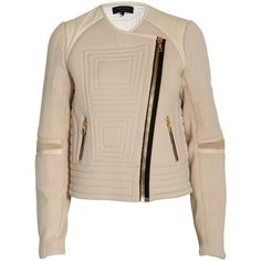 Rag and Bone Mc Cauley biker jacket (€256) ❤ liked on Polyvore featuring outerwear, jackets, coats, giacche, leather moto jacket, biker jacket, cropped moto jacket, asymmetrical zip jacket and real leather jackets