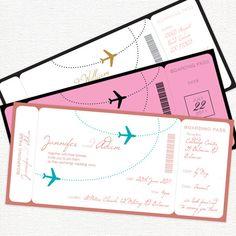 Airline ticket wedding invitations australia news
