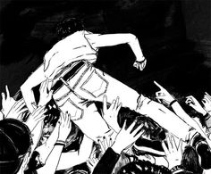 Amanda Lanzone art illustration mosh pit