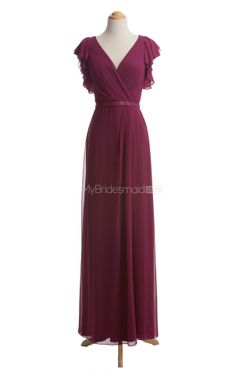 Pretty Fuchsia Long Bridesmaid Dresses,Long Bridesmaid Dress- would be great in black