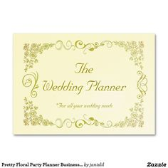 Pretty Floral Party Planner Business Cards