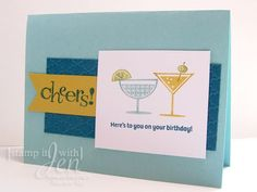 Cheers to you! Made with Happy Hour stamp set from Stampin' Up!