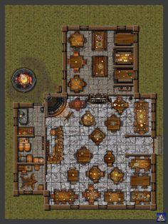 RedThorn Tavern Interior by Bogie-DJ