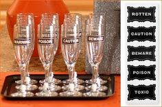 Cute halloween party goblets