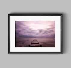 The Jetty, Crosby / art print / landscape photograph / purple pastels / seascape / warm colours / Merseyside / seaside art