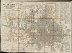 Map of the city of Mexico authorized for publication with the Mexican guide