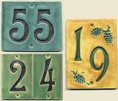 Handcrafted TwoDigit Ceramic House Number Tile by RavenstoneTiles, $49.00