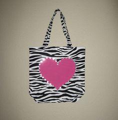 Zebra Print Tote Bag by mylemonadestandca on Etsy, $14.00