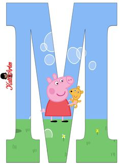 Alfabeto de Peppa Pig y Perrito 2. - Oh my Alfabetos! Invitacion Peppa Pig, Cumple Peppa Pig, Papa Pig, Childrens Cupcakes, George Pig, Funny Iphone Wallpaper, Pig Party, Alphabet And Numbers, Scrapbook Stickers