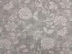 Bird-Garden-Charcoal-Curtain-Craft-Upholstery-Designer-Fabric