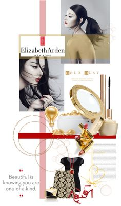 """""""A Glimpse of Gold with Elizabeth Arden"""" by minnieromanovich on Polyvore"""