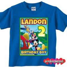 Custom Mickey Mouse Clubhouse Birthday Shirt by MistingDesigns