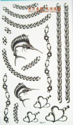 Metal necklace bracelet tattoo stickers doradus wrist length the legs of the neck