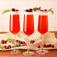 No holiday brunch is complete without cranberry mimosas. Get the recipe at Delish.com