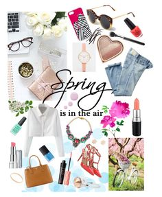 """""""This is spring ! Enjoy !!! ;)"""" by nina-dil ❤ liked on Polyvore featuring Revlon, Jordan Carlyle, Prada, Illesteva, Marc by Marc Jacobs, Too Faced Cosmetics, L'Agence, AG Adriano Goldschmied, SHOUROUK and Valentino"""