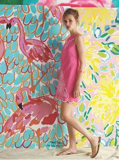 Lilly Pulitzer flamingos