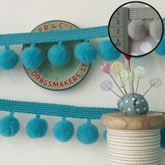 Jumbo Pom Pom Trim - All 22 Colours (Per Metre) Excellent Quality Fringe Trimmin Pom Pom Trim, Haberdashery, Coin Purse, Colours, Turquoise, Wallet, Yellow, Ebay, Room