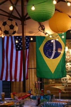 Throw a wonderful Brazil 2014 World Cup Party. Decoration inspiration and party tips for World Cup fun Brazil Party, Brazil Carnival, Birthday Cup, Happy Birthday, Birthday Parties, Goodbye Party, Farewell Parties, Holiday Club, Decoration Inspiration