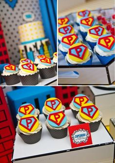 Another cupcake idea would be to make cupcake flags with a W, in a shape like these, using Photoshop.