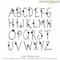 Creative Lettering Alphabet, Fonts Handwriting Alphabet, Brush Lettering Alphabet, Handlettering Alphabet, Heart Font Alphabet, Cute Lettering Fonts, ...
