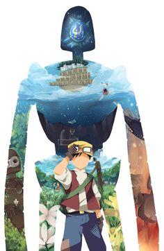Pazu - Laputa Castle in the Sky - Studio Ghibli Hayao Miyazaki, Studio Ghibli Films, Art Studio Ghibli, Castle In The Sky, Chihiro Cosplay, Personajes Studio Ghibli, Film D'animation, Howls Moving Castle, My Neighbor Totoro