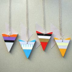 Wooden Arrow Head Necklace by Lucie Ellen Available from The Red Door Gallery www.edinburghart.com