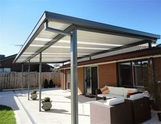 This is the most cost-effective pergolas type. It utilizes single layer colorbond as roofing. Its multi color finish offers you versatile looks and we can p Deck With Pergola, Wooden Pergola, Outdoor Pergola, Backyard Pergola, Covered Pergola, Patio Roof, Pergola Plans, Pergola Kits, Outdoor Decor