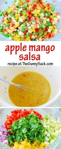 We love the fresh taste of Apple Mango Salsa! Try this easy recipe with chicken, with tacos or with chips!