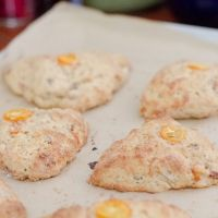 A super delicious Buttermilk Bacon Kumquat Scone Recipe that will delight anyone at breakfast time.
